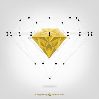 Vector estructura de diamante