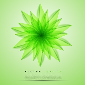 Vector flor de fondo abstracto.