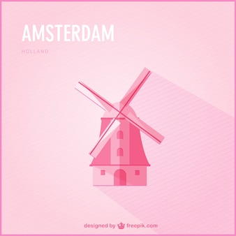 Vector fondo Amsterdam