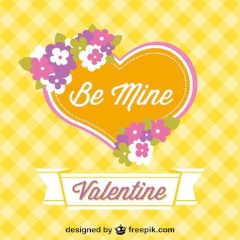 Vector gratis retro con corazón de San Valentín
