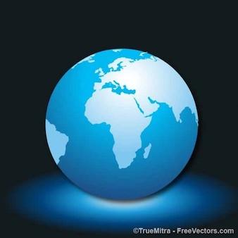 Vector hermosa tierra azul