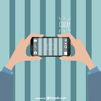 Vector ilustración de foto con smartphone