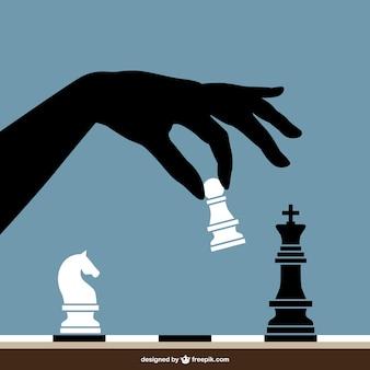 Vector jugando al ajedrez