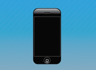 Vector libre diseño iphone