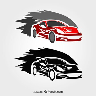 Vector logo de coches de carreras