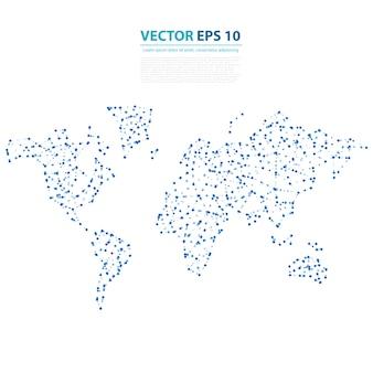 Vector Mapa abstracto de la tierra de la telecomunicación.