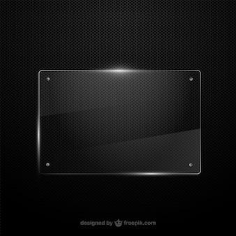 Vector marco de cristal