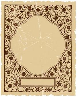 vector marco plantilla
