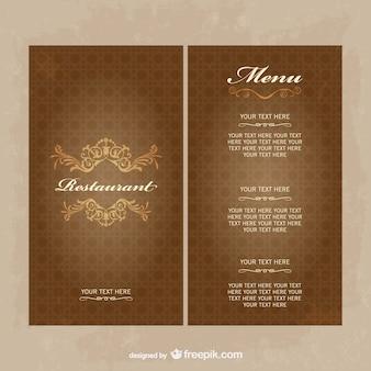 Vector mení de restaurante