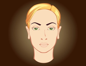 Vector mujer cabeza