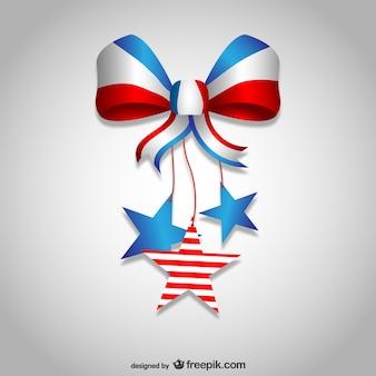 Vector pajarita del Día de la Independencia