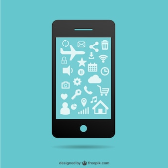 Vector pantalla de smartphone