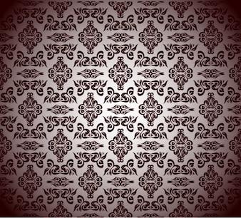 Vector patrón floral gráficos antiguos