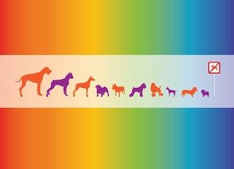 vector perros gráficos