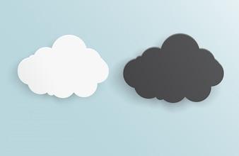 Vector resumen de antecedentes tormenta nube.