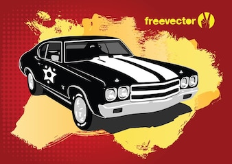 vector retro de coches