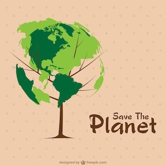Vector salvar el planeta