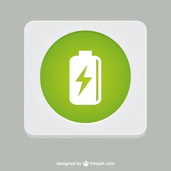 Vector símbolo de la batería