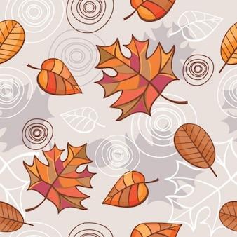 vector sin fisuras de fondo con las hojas de otoño