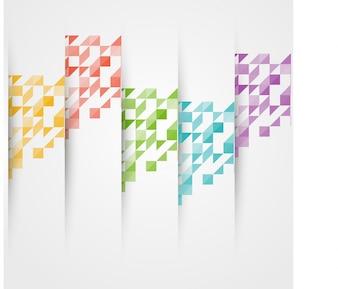 Vector triángulo de color