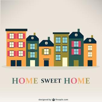 Vector vintage de hogar, dulce hogar