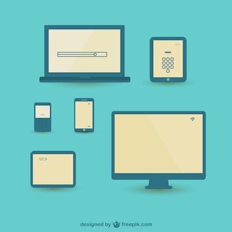 Vectores de dispositivos tecnológicos