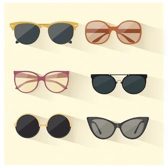 Vectores de gafas de sol