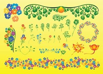 vectores de verano la planta