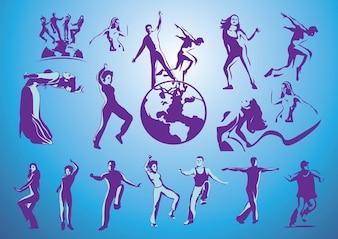 vectores gratis de baile