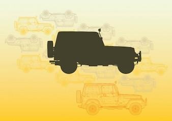 vectores jeep