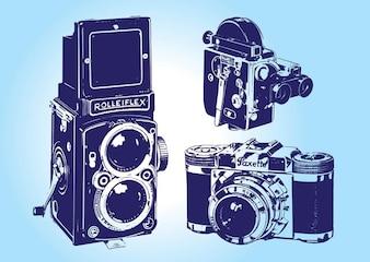 Vectores Vintage Camera