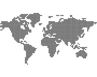 vectoriales del mapa mundial