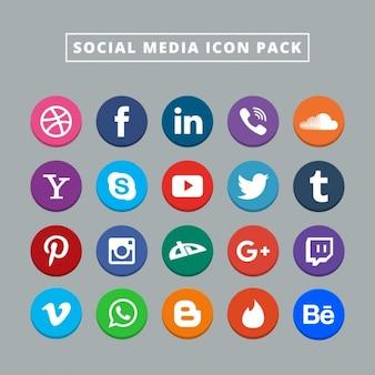 Veinte iconos de redes sociales