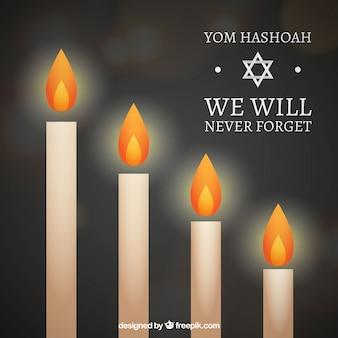 Velas del Día del Holocausto