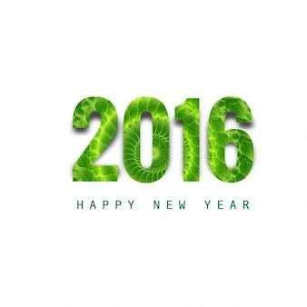 Verde brillante texto de nuevo año 2016