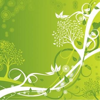 verde floral de fondo ilustración vectorial