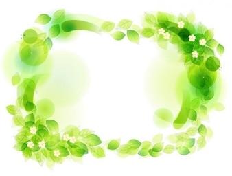 verde floral frame ilustración vectorial