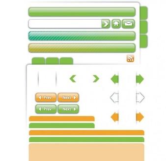 Verde que ui kit elemento del vector