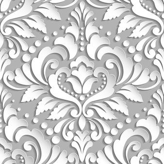 Victorian sin costura blanco vintage