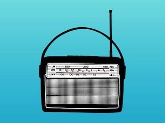 Vieja música vector aparato de radio