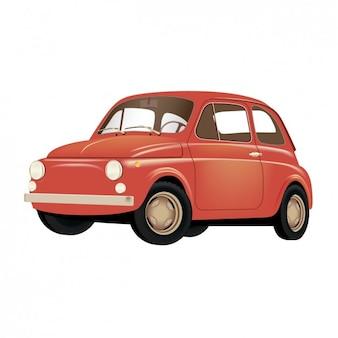 Viejo coche rojo