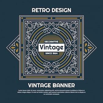 Vintage diseño de fondo