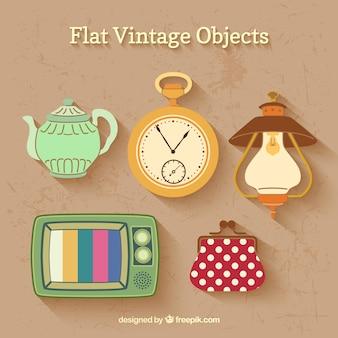 Vintage Flat Objetos