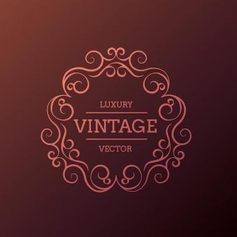 Vintage y lujoso marco floral