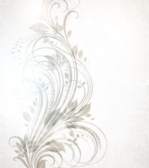 Visual retro plantilla de adornos florales