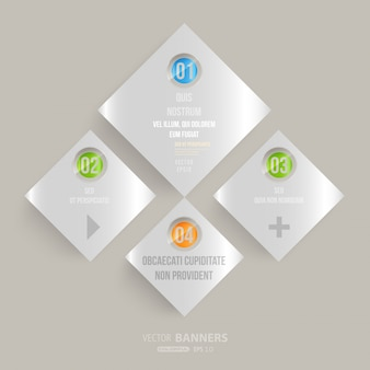 Web opciones de banners conceptuales geométrica