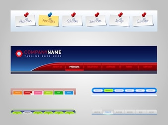 Website menu template Colorful
