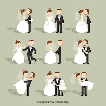 Wedding Couples Flat Set