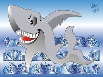 Whater fondo con el tiburón