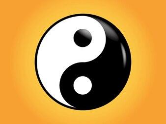 Yin yang símbolo asiático